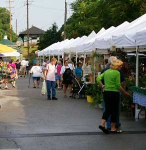 Photo of the farmers' market vendors.
