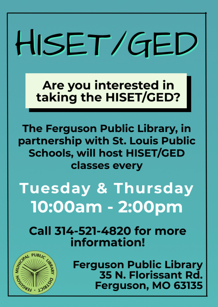 HISET Classes at Ferguson Library
